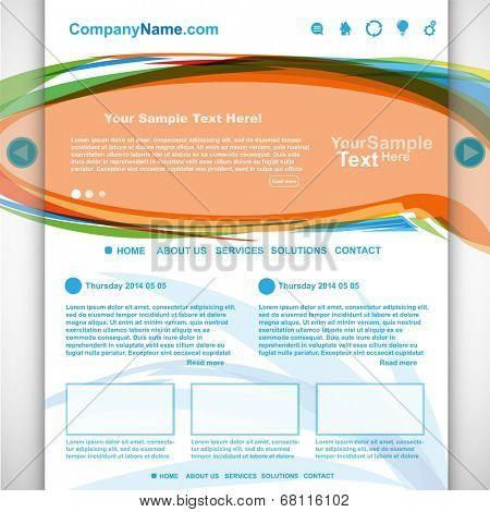 Website design colorful, vector