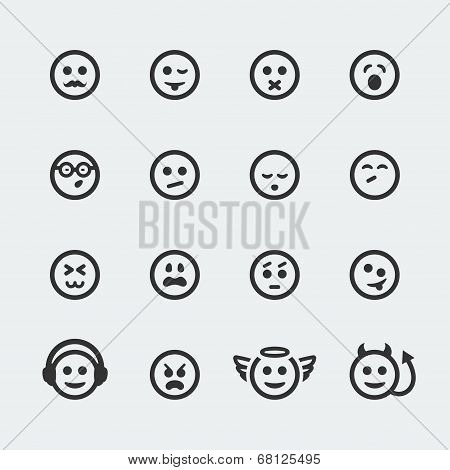 Vector Smile Mini Icons Set #2