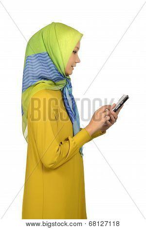 Modern Moslem Woman In Hijab