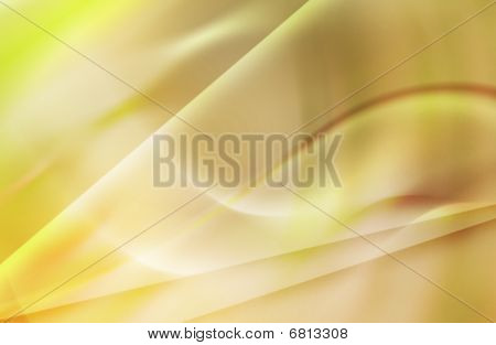 Abstract Composition Gold Swirl