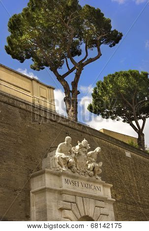 Entrance To The Vatican Museums, Rome, Italy