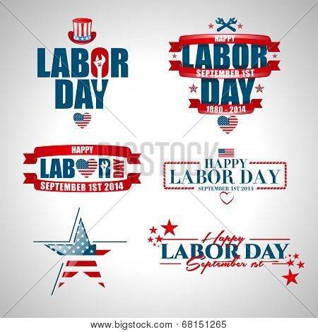 vector labels Labor Day