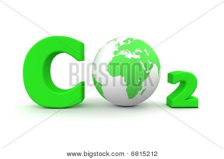Global Carbon Dioxide Co2 - Green