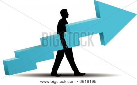 Business Success - vector illustration