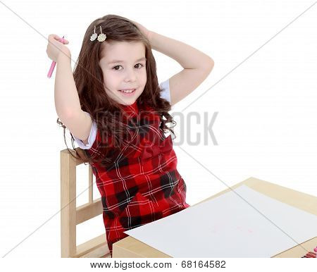 charming girl schoolgirl