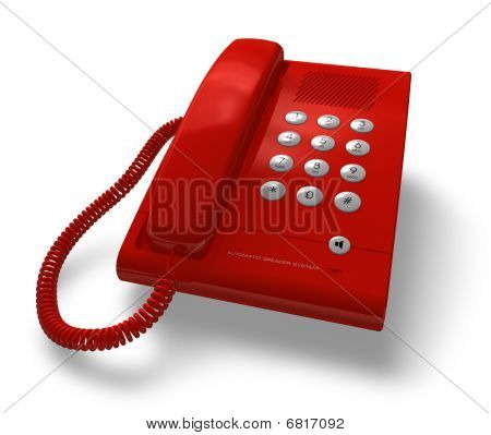 Red office phone