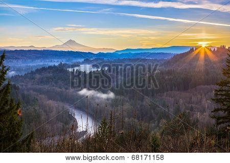 Mount Hood From Jonsrud Viewpoint.