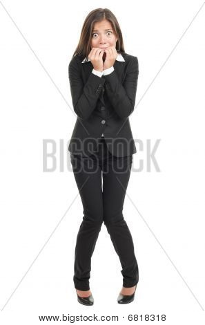 Nervous Scared Businesswoman