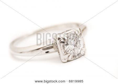 Diamond And Platinum Engagement Ring