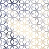 Lavender pastel defocused background with geometric ornament poster