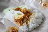 Nasi lemak traditional Malaysian coconut rice with spicy sauce poster