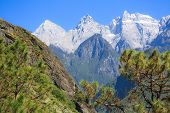 Scenery of Tiger Leaping Gorge. Tibet. China. poster