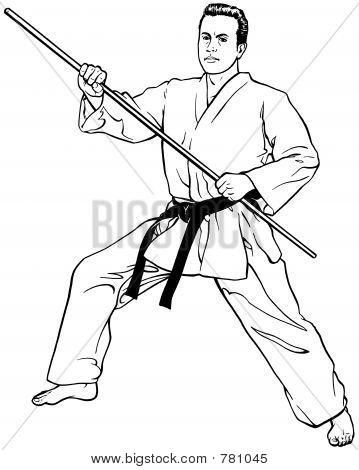 Forward Stance w/ Bow Staff