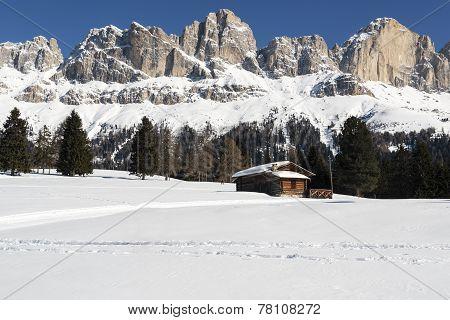 Ski Slope In The Dolomites