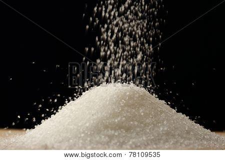 Flow Of White Sugar