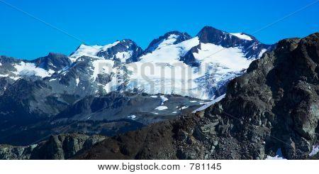Rocks and snow peaks