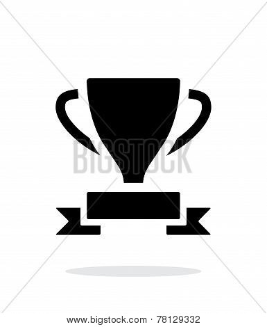 Trophy and awards icon on white background.