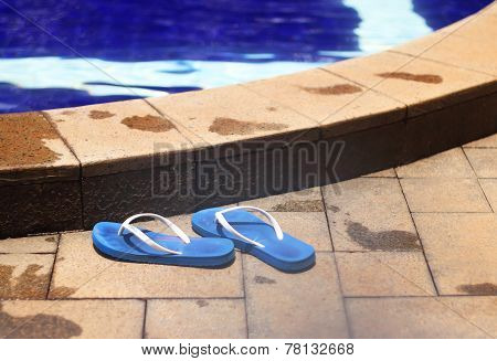 Shoes By The Poolside