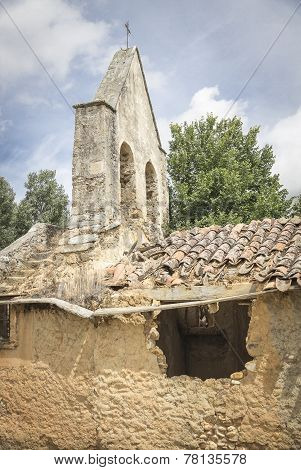 Saint Justa and Rufina church ruins, Calzadilla de Tera, Spain