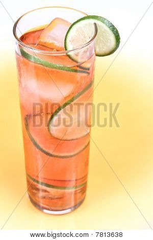 Red Drink With Lime