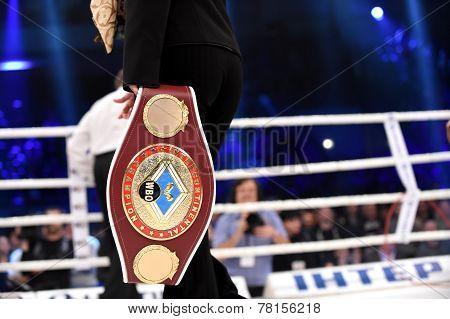 WBO Inter-Continental cruiserweight champion belt