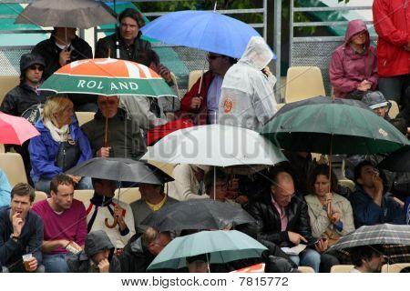 Rain At Roland Garros 2010