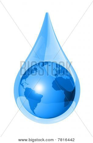 Earth Water Drop
