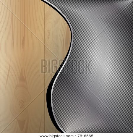 Wooden metal background
