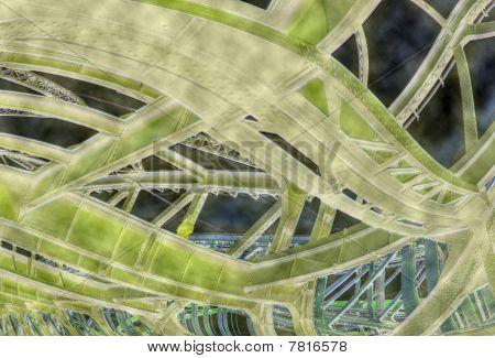Steel Bridge In Psychedelic View