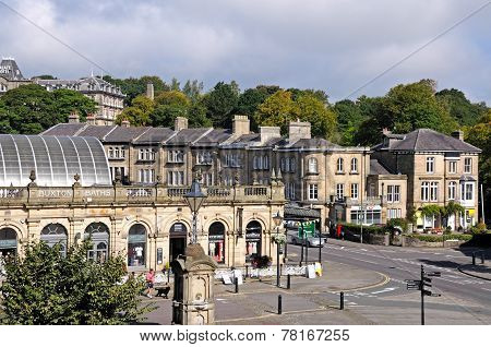 Buxton Thermal Baths and town centre.