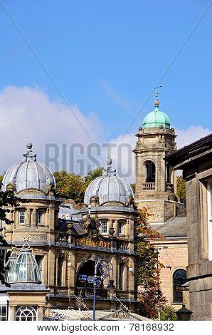 Buxton Opera House and church.