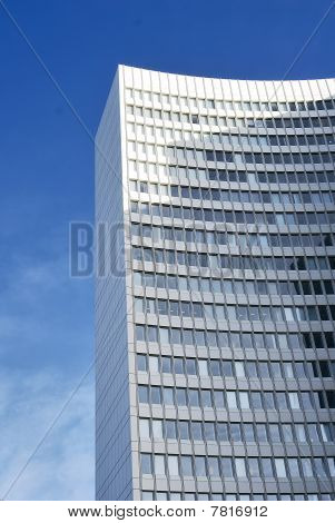 Modern Bureau Building In Front Of A Blue Sky
