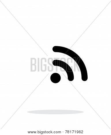 Radio signal Wi-Fi icon on white background.