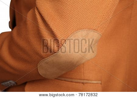 Jacket Suit For Men, Color Clay, Isolated On White.