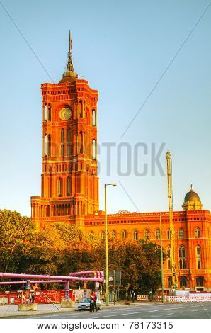 Rotes Rathaus Building In Berlin, Germany