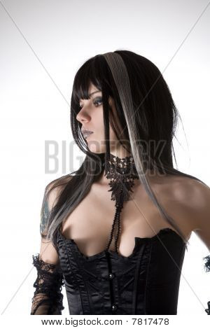 Classic Gothic Girl Portrait