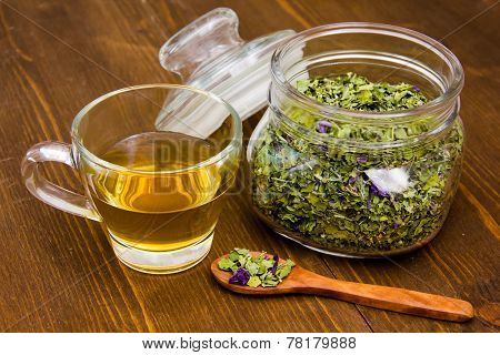 Herbal tea with mallow
