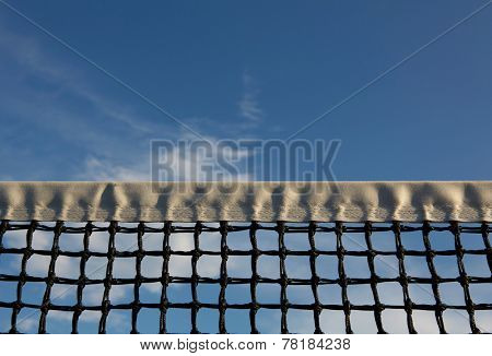 Tennis Net with room for copy