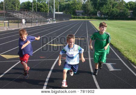 Kids Running On Track