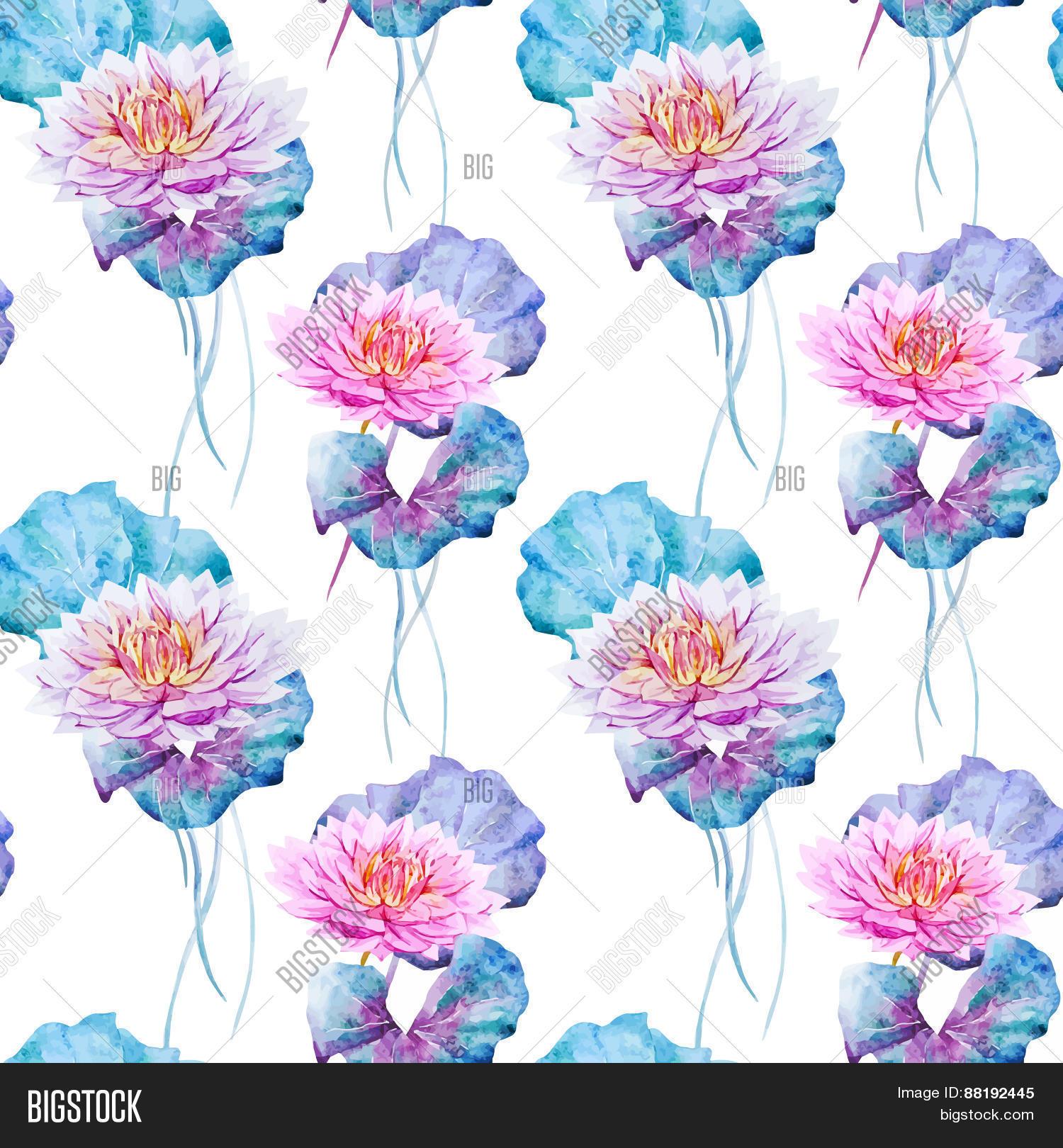 Lotus flowers pattern vector photo free trial bigstock lotus flowers pattern izmirmasajfo