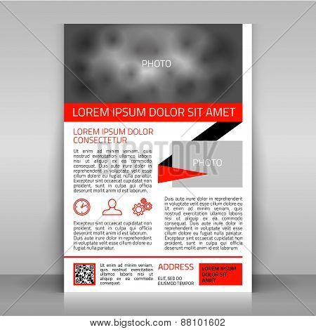 Business Flyer with Red Elements.
