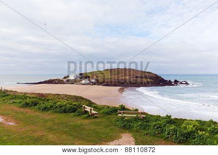 Burgh Island South Devon England UK near seaside village of Bigbury-on-Sea and Challaborough