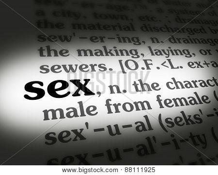 Dictionary Sex