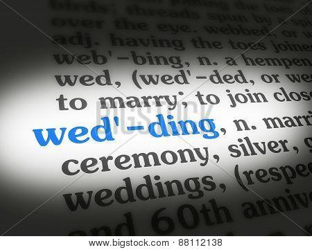 Dictionary Wedding
