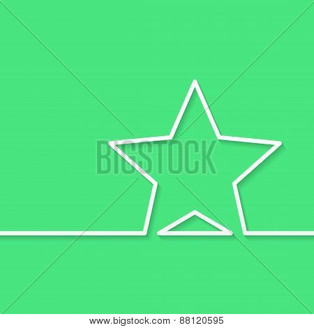 Modern Green Background With Star Outline For Text