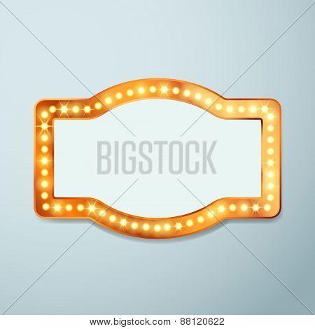 Retro Bulb Circus Cinema Light Sign Template