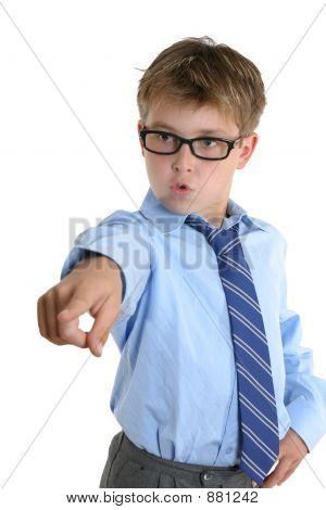 Assertiive Child Pointing His Finger
