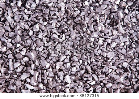 Background Texture Of Small Silver Stones