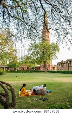 Qutb Minar In New Delhi, India