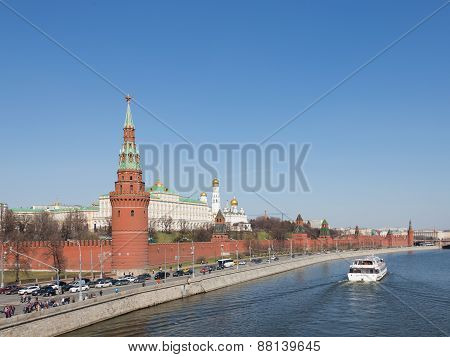 Moscow Kremlin And Moskva River